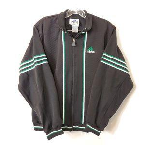 90s Adidas Vintage Men black classic bomber jacket